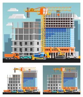 Набор строительных и городских композиций