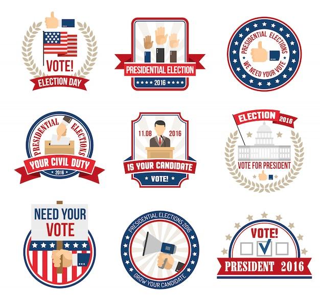 大統領選挙のラベル