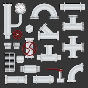 Реалистичные элементы трубопровода