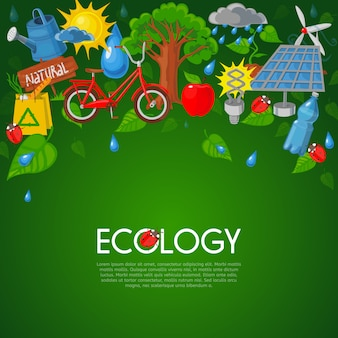エコロジーフラットイラスト