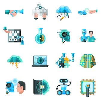 Набор иконок искусственного интеллекта