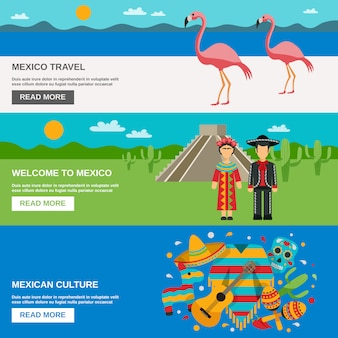 Набор баннеров для мексики