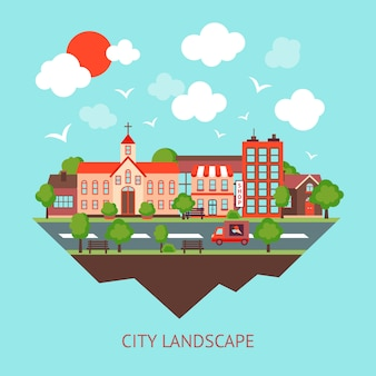 都市景観の背景