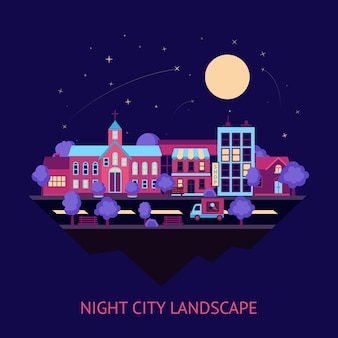 街の景観夜の背景