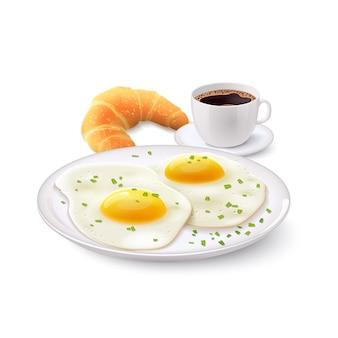 朝食のリアルなセット