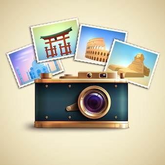 旅行写真の背景