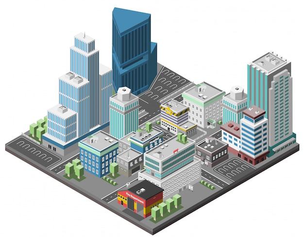 市のダウンタウンのコンセプト