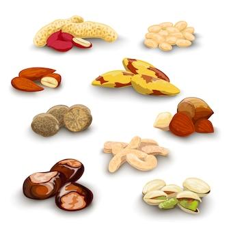 Ореховый декоративный набор