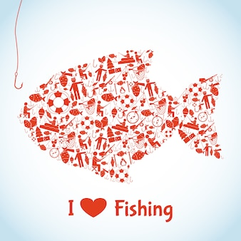 愛の釣りの概念