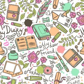 日記のシームレスパターン