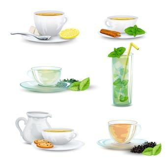 お茶のアイコンを設定