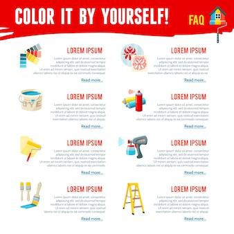 塗装作業インフォグラフィック