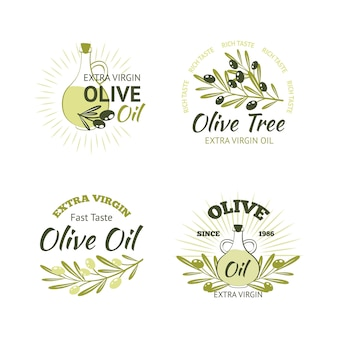 Набор оливковых эмблем