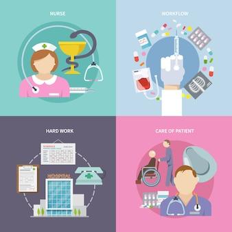 Плоский набор медсестры