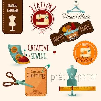 Набор швейных эмблем