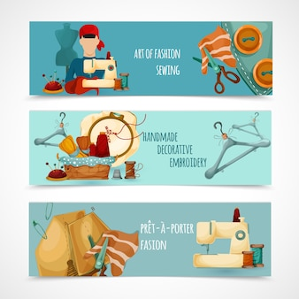 Набор швейных баннеров