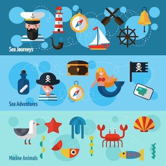 Набор морских баннеров