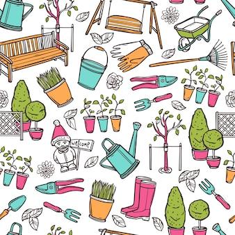 園芸のシームレスパターン