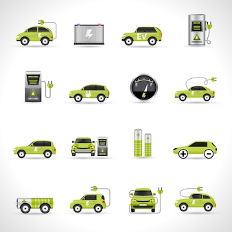 Иконки электромобилей