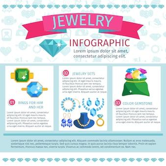 貴重な宝石のインフォグラフィック
