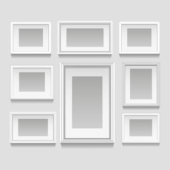 Набор белых рамок