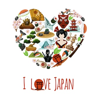 Любовь япония плакат