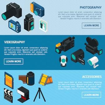写真とビデオのバナー