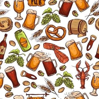 Пиво бесшовные шаблон