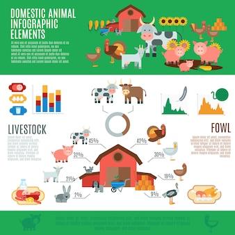 家畜のインフォグラフィック