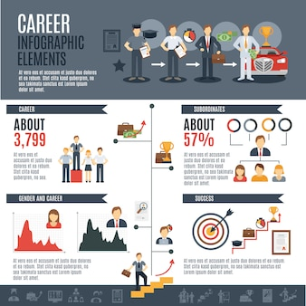 Набор карьерной инфографики