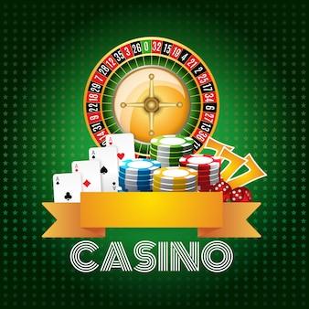カジノの背景のポスター印刷