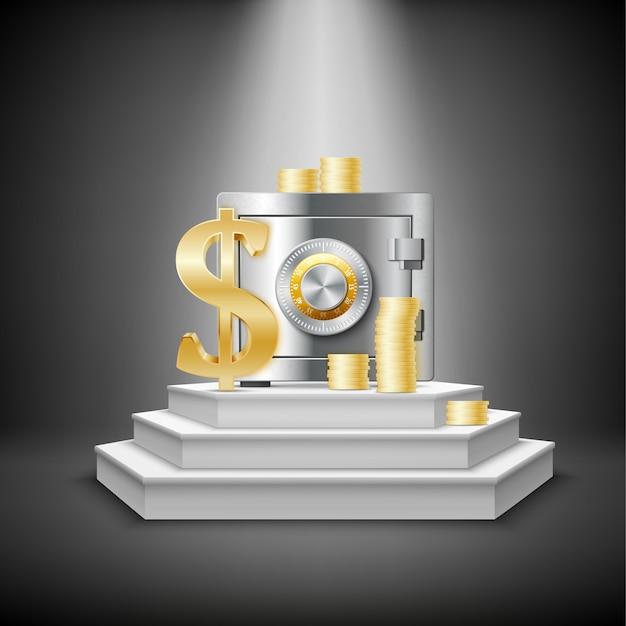 Реалистичные деньги финансовый шаблон