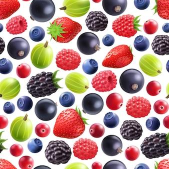 Реалистичные ягоды бесшовные модели