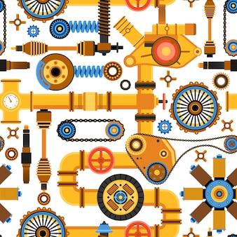 機械のシームレスパターン