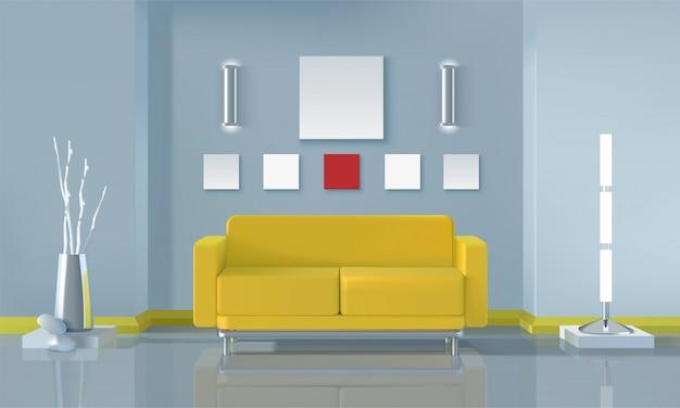 モダンなリビングルームのインテリアデザイン