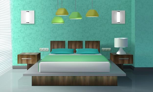 寝室のインテリアデザイン