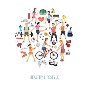 健康的なライフスタイルのコンセプト