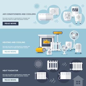 加熱と冷却のバナー