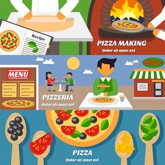 Набор баннеров для пиццы