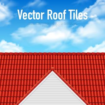 家の屋根瓦ポスター