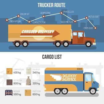 Доставка грузовиков баннеры