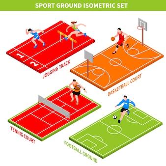 Спорт изометрические концепция