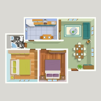 平面図アパートインテリア詳細図