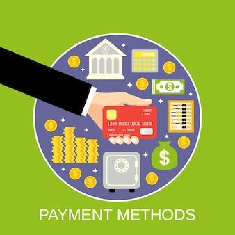 支払い方法背景デザイン