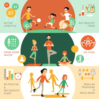 Активный здоровый образ жизни горизонтальные баннеры