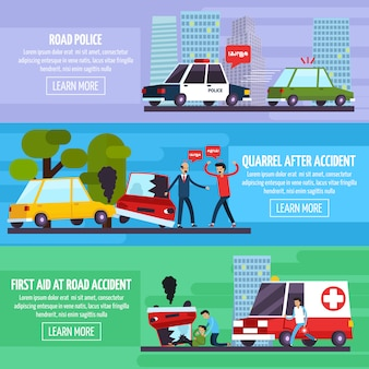 Набор баннеров дорожно-транспортных происшествий