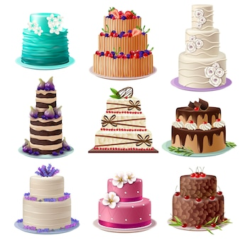 Набор сладких печеных пирожных