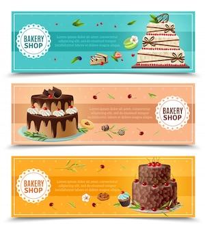 Набор баннеров для тортов