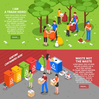 Набор баннеров для сортировки мусора