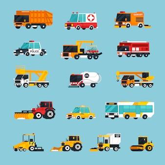 Специальная и экстренная транспортная инфографика
